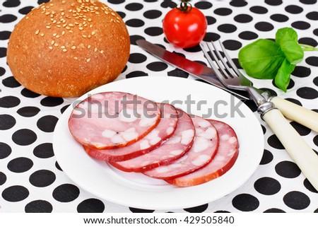 Barbados Sausage, Ham Studio Photo - stock photo