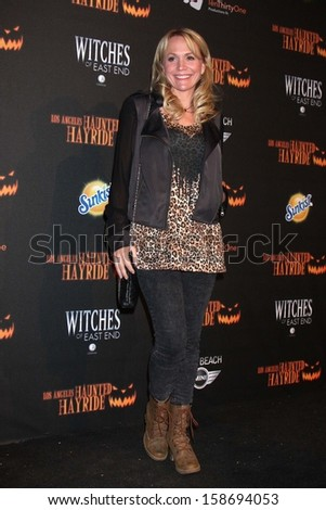 Barbara Alyn Woods at the 8th Annual LA Haunted Hayride Premiere Night, Griffith Park, Los Angeles, CA 10-10-13
