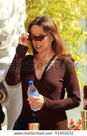 Barbara Hershey at Peter O'Toole's Hand And Foot Print Ceremony