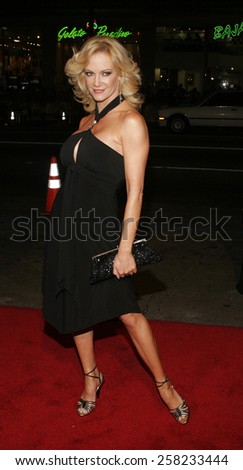 """Barbara Moore attends the Warner Bros World Premiere of """"Firewall"""" held at the Grauman's Chinese Theatre in Hollywood, California on February 2, 2006 .  - stock photo"""