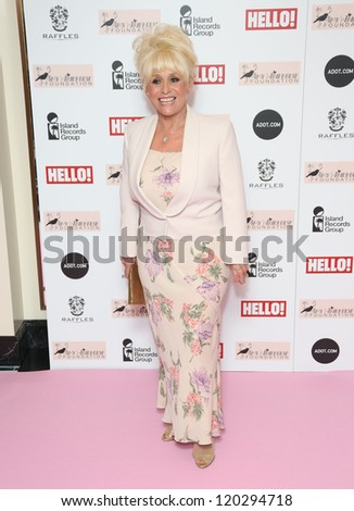 Barbara Windsor arriving at the The Amy Winehouse foundation ball held at the Dorchester hotel, London. 20/11/2012 Picture by: Henry Harris - stock photo