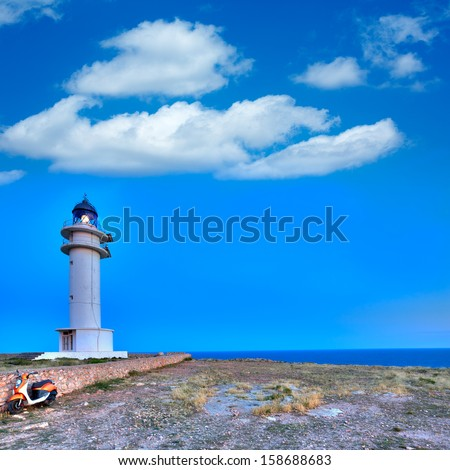 Barbaria Berberia Cape Lighthouse Formentera  in Balearic Islands
