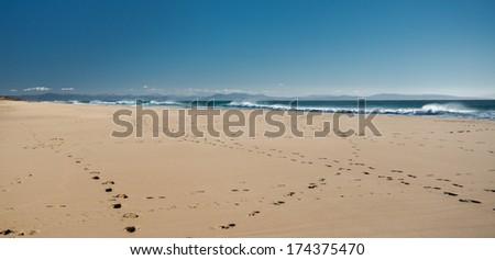 Barbate beach. Cadiz, southwestern Spain - stock photo