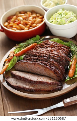 barbecue beef brisket, texas style