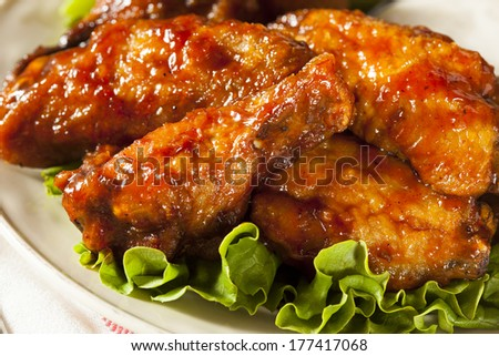 Barbecue Buffalo Chicken Wings as an Appetizer - stock photo