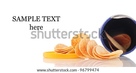 Barbecue Chips with space for Text - stock photo
