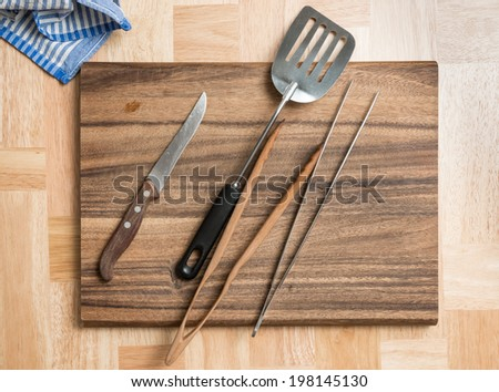 Barbecue Cutlery - stock photo