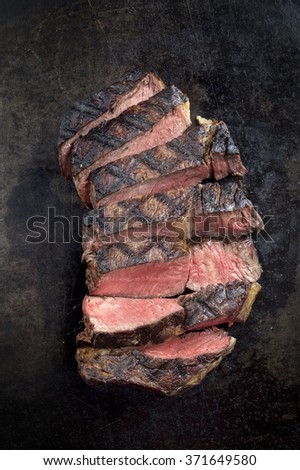 Barbecue Dry Aged Entrecote Steak - stock photo