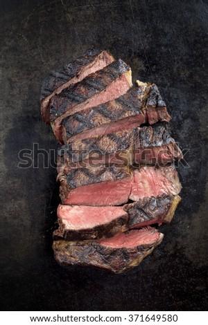 Barbecue Dry Aged Entrecote Steak - stock photo