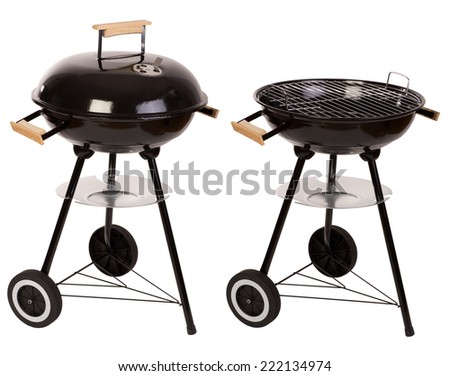 Barbecue grill  isolated on white  - stock photo