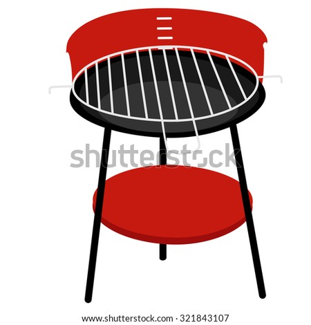 Barbecue grill raster isolated, barbeque family, barbeque party
