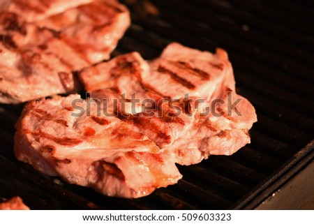 barbecue meat and grilled pork