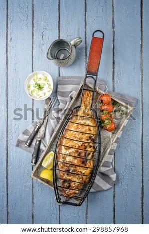 Barbecue Rose Fish - stock photo