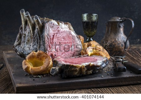 Barbecued Cote de Boeuf with  - stock photo