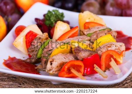 Barbecued pork. - stock photo