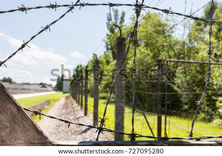 Barbed Wire Fence Surrounding Dachau World Stock Photo & Image ...