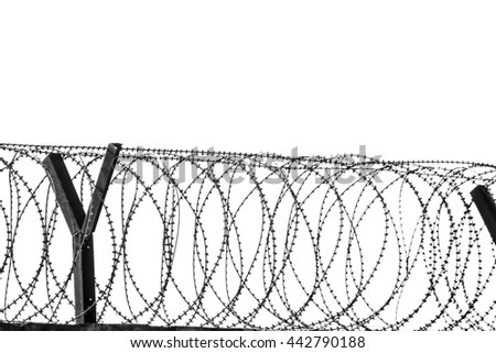 Prison Fence Black And White