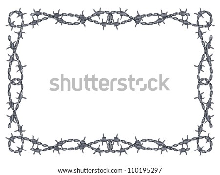 Barbed Wire Border
