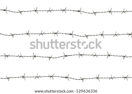 Barbed Wire Isolate On White Background Stock Photo (Royalty Free ...
