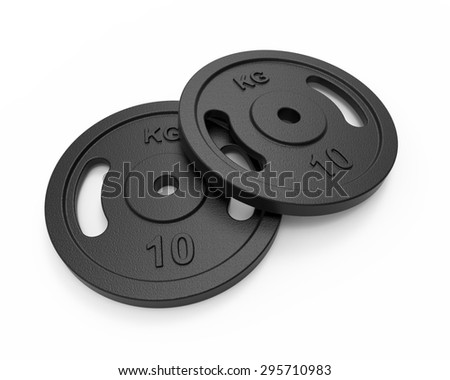 Barbell cast iron weight plates - 10 kg