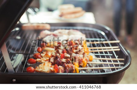 Barbeque on the grill  - stock photo