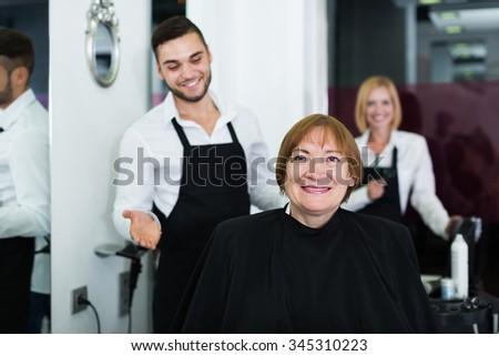 barber makes the cut for mature woman