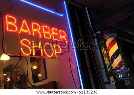 Barber Shop New York City - stock photo