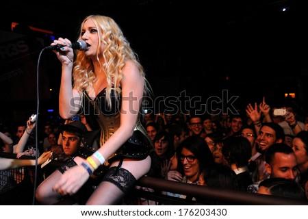 BARCELONA - APR 30: Murfila (band) performs at Razzmatazz club on April 30, 2011 in Barcelona, Spain. - stock photo