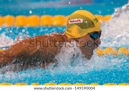 BARCELONA - AUGUST  4:   D'Orsogna Tommaso ( Australia)    in action during Barcelona FINA World Swimming Championships on August 4, 2013 in Barcelona, Spain