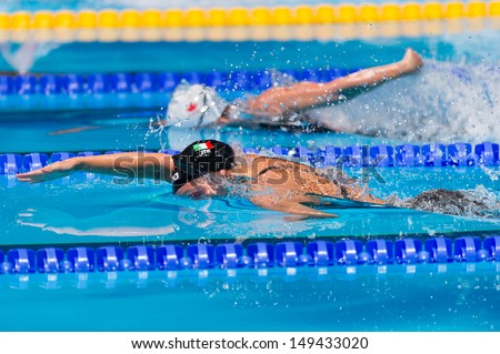 BARCELONA - AUGUST  1:  Melanie Costa Schmid ( Spain)     in action during Barcelona FINA World Swimming Championships on August 1, 2013 in Barcelona, Spain