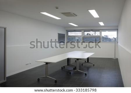 BARCELONA, CATALONIA/SPAIN - CIRCA 2011: Can Rectoret spacious conference room - stock photo