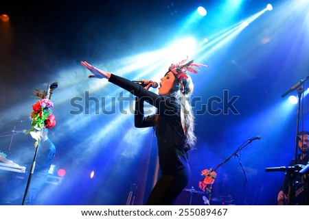 BARCELONA - DEC 05: Fuel Fandango (electronic, funk, fusion and flamenco band) performs at Apolo (venue) on December 05, 2014 in Barcelona, Spain.