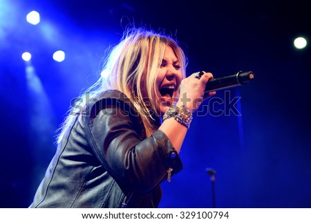 BARCELONA - FEB 28: Amaia Montero (artist) concert at Barts Stage on February 28, 2015 in Barcelona, Spain.