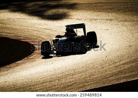 BARCELONA - FEBRUARY 27: Felipe Nasr of Sauber F1 Team at Formula One Test Days at Catalunya circuit on February 27, 2015 in Barcelona, Spain. - stock photo