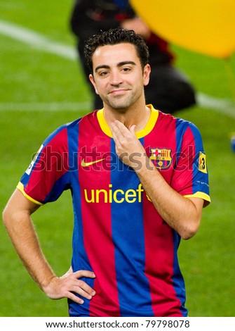 Barcelona january 12 xavi hernandez 6 stock photo royalty free barcelona january 12 xavi hernandez 6 during spanish cup match between fc voltagebd Images