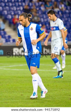 BARCELONA - JULY 27: Sergio Garcia of Espanyol during the Ciutat de Barcelona Trophy match between Espanyol and Boca Juniors, final score 3 - 1, on July 27, 2011 in Cornella stadium, Barcelona, Spain.