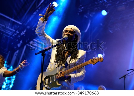BARCELONA - JUN 14: Chic featuring Nile Rodgers (band) performs at Sonar Festival on June 14, 2014 in Barcelona, Spain.