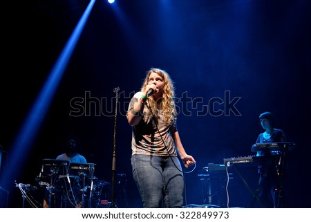 BARCELONA - JUN 19: Kate Tempest (poet, playwright, rapper and recording artist) performs at Sonar Festival on June 19, 2015 in Barcelona, Spain.