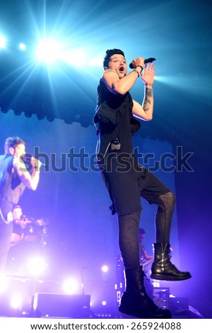 BARCELONA - MAR 30: The Script (band) performs at St. Jordi Club stage on March 18, 2015 in Barcelona, Spain. - stock photo