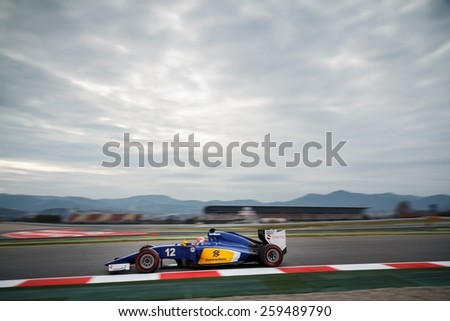 BARCELONA - MARCH 1: Felipe Nasr of Sauber F1 Team at Formula One Test Days at Catalunya circuit on March 1, 2015 in Barcelona, Spain.