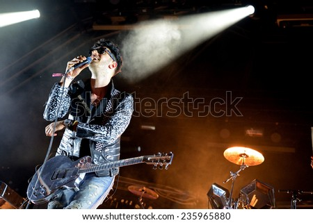 BARCELONA - MAY 30: Chromeo (electro funk duo) performs at Heineken Primavera Sound 2014 Festival (PS14) on May 30, 2014 in Barcelona, Spain. - stock photo