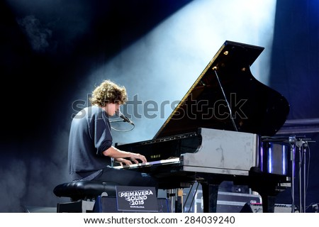 BARCELONA - MAY 29: Tobias Jesso Jr. (musician) performs at Primavera Sound 2015 Festival, Pitchfork stage, on May 29, 2015 in Barcelona, Spain. - stock photo