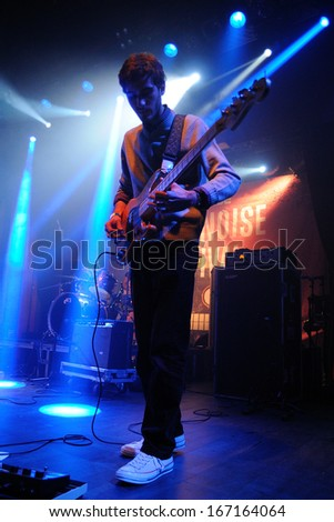 BARCELONA - NOV 30: Da Souza band performs at Make Noise Festival on Apolo stage on November 30, 2013 in Barcelona, Spain.