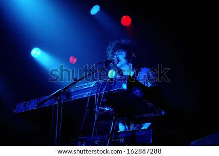 BARCELONA - NOV 7: Youth Lagoon (band) performs at Razzmatazz stage on November 7, 2013 in Barcelona, Spain. Youth Lagoon is the stage name of the American musician Trevor Powers.