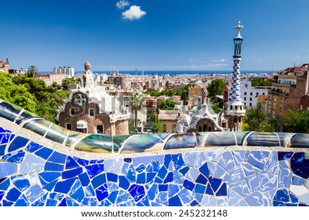 Barcelona Park Guell - stock photo