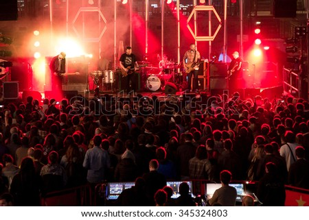 BARCELONA - SEP 5: Crowd in a concert at Tibidabo Live Festival on September 5, 2015 in Barcelona, Spain.