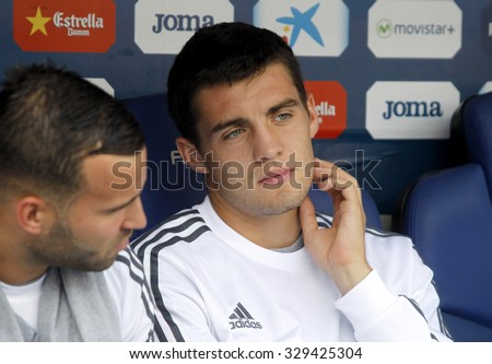 BARCELONA - SEPT, 12: Mateo Kovacic of Real Madrid during a Spanish League match against RCD Espanyol at the Power8 stadium on September 12 2015 in Barcelona Spain - stock photo