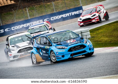 Barcelona, Spain - April 1, 2017: FIA World Rallycross that celebrates at Circuit of Barcelona Catalunya.