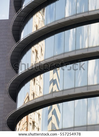 BARCELONA, SPAIN - JULY 12, 2016: Barcelona (Catalunya, Spain): modern building near the Sants Station