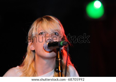 BARCELONA, SPAIN - JULY 27: Cassie Ramone, from Vivian Girls, performs at Discotheque Razzmatazz on July 27, 2010 in Barcelona, Spain.